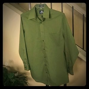 Stafford Super Shirt Wrinkle Free Olive Green